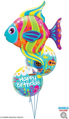 Birthday Tropical Fish Maritime Balloons Bouquet