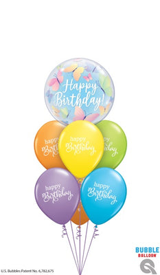 Birthday Beautiful Butterflies Bubbles Balloon Bouquet