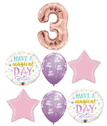 Birthday Magical Pick An Age Rose Gold Number Balloon Bouquet