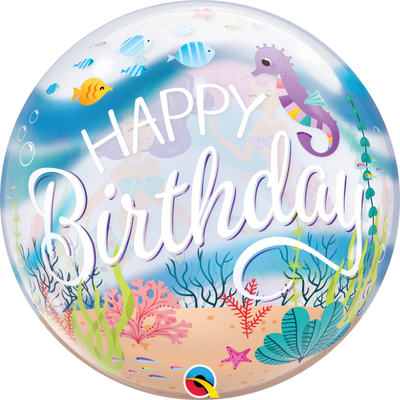 Mermaid Birthday Bubbles Balloons