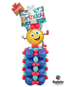 Birthday Smiley Party Guy Balloon Stand Up