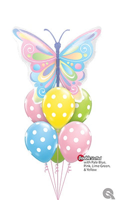 Butterfly Pastel Beautiful Butterflies Balloon Bouquet