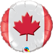 Canada Day 18 inch Maple Leaf Foil Balloon