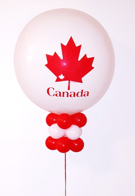 Canada Day 36 inch Maple Leaf Balloon