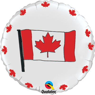 Canada Day Flag 18 inch Mylar Balloon