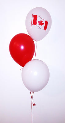 Canada Day Flag Balloon Bouquet of 3