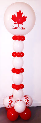 Canada Day Maple Leaf  Links Balloon Stand Up