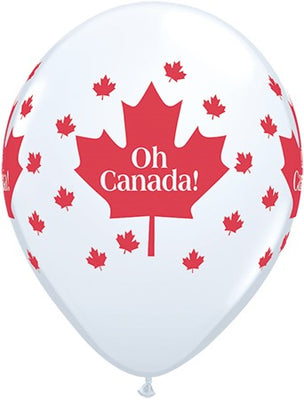 Canada Day Oh Canada Maple Leaf Balloons