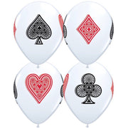 Casino Playing Cards Spade Diamond Heart Club Balloons