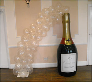 Champagne Bottle Bubble Arch