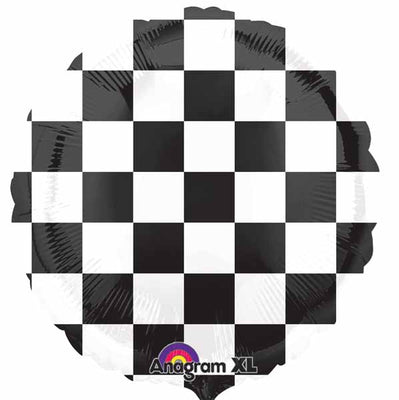 Checkered 18 inch Helium Foil Balloon