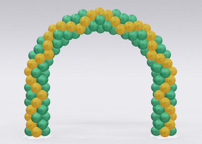 Christmas Green Gold Balloon Arch