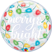Christmas Merry and Bright Bubbles Balloon