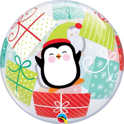 Christmas Penguin Presents Bubbles Balloon