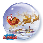 Christmas Santa Claus Reindeer Bubbles Balloon