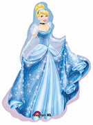 Cinderella 40 inch Shape Foil Balloon with Helium