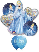 Cinderella Birthday Sparkle Balloons Bouquet