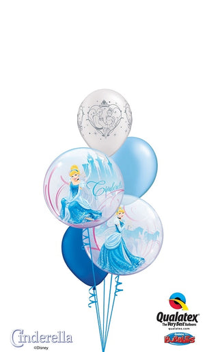 Cinderella Bubble Birthday Balloons Bouquet