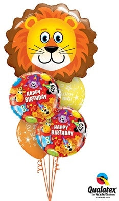 Circus Lion Birthday Balloon Bouquet 2