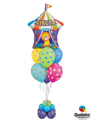 Circus Tent Lion Balloon Bouqeut Stand Up 2