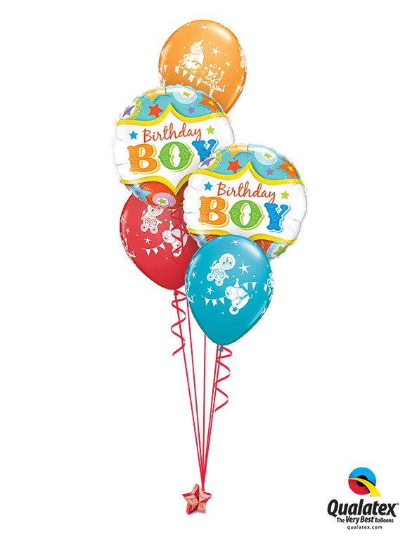 Circus Birthday Boy Balloon Bouquet 1