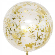 36 inch Gold Confetti Balloon