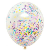 16 inch Pastel Mix Confetti Helium Balloon with Hi Float