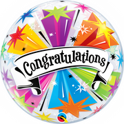 Congratulations Stars Bubbles Balloon