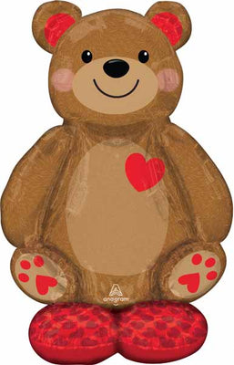 Cuddly Teddy Bear 48 inch AirLoonz Balloons Air Filled