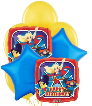 DC Super Hero Girls Birthday Balloon Bouquet 1