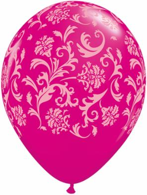 Damask Wild Berry Balloons