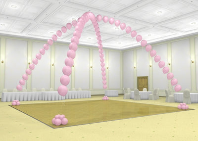 Dance Floor Double Pearl Balloon Arch