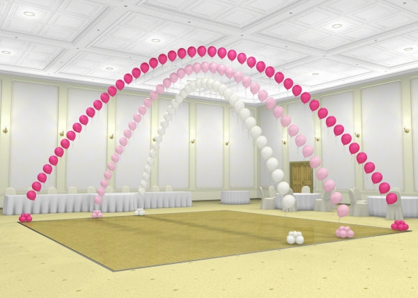 Wedding Dance Floor Triple Balloon Pearl Arch