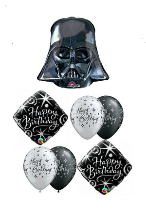 Darth Vadar Happy Birthday Balloon Bouquet