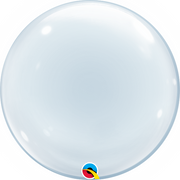 Deco 20 inch Clear Bubbles Balloon
