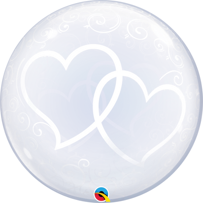 Deco Entwined Hearts Bubbles Balloon
