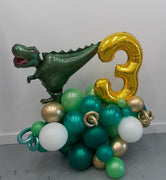 Dinosaur Pick An Age Garland Balloon Stand Up