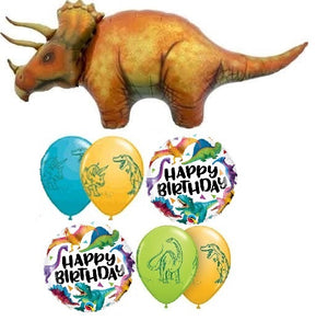Dinosaur Triceratops Birthday Balloon Bouquet