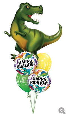 Dinosaur Happy Birthday Balloon Bouquet