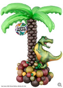 Dinosaur T-Rex Birthday Palm Tree Stand Up  Balloon Decorations