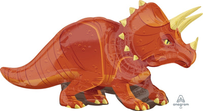 Dinosaur Triceratops Shape 42 inch Foil Balloon