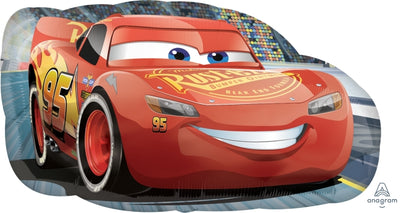Disney Cars Lighting McQueen 30 inch Foil Balloon with Helium