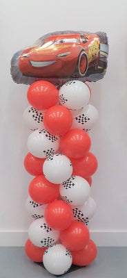 Disney Cars Lighting McQueen Checked Flags Balloon Column