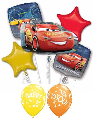 Disney Cars Pixel Lighting McQueen Birthday Balloon Bouquet