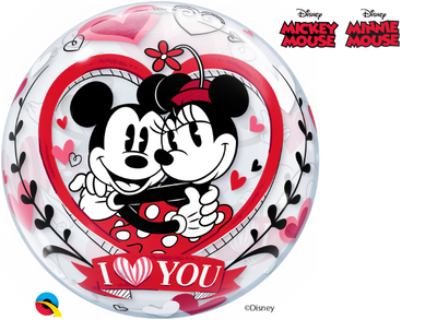 Love Minnie Mickey Bubbles Balloon