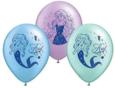 11 inch Little Mermaid Ariel Balloon with Helium and Hi Float