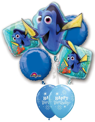 Dory Birthday Balloon Bouquet 3