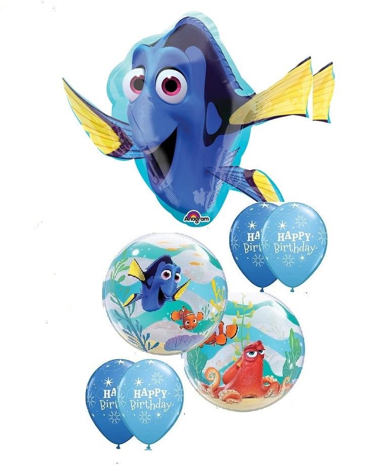 Finding Dory Bubbles Birthday Balloon Bouquet 6