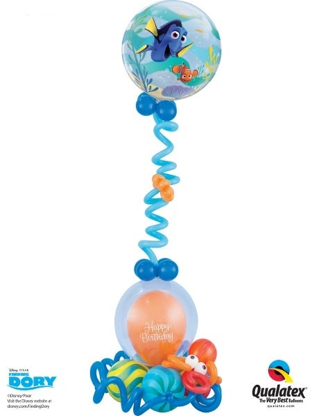 Dory Bubbles Birthday Balloon Stand Up 2