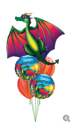 Dragon Birthday Balloon Bouquet